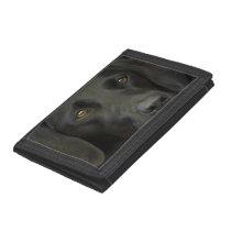 Black Labrador Dog Tri-fold Wallet