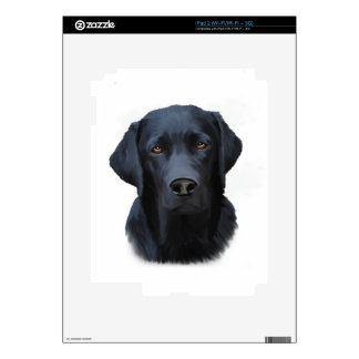 Black Labrador Dog Water Color Art Painting Decals For The iPad 2