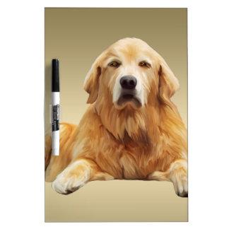 Black Labrador Dog Water Color Art Painting Dry-Erase Board