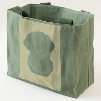 Black Labrador Dog Water Color Art Painting Tote
