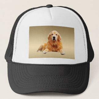 Black Labrador Dog Water Color Art Painting Trucker Hat