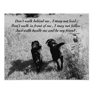 Black Labrador Friends Quote Poster