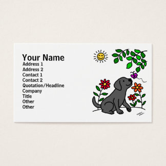 Black Labrador & Green Business Card