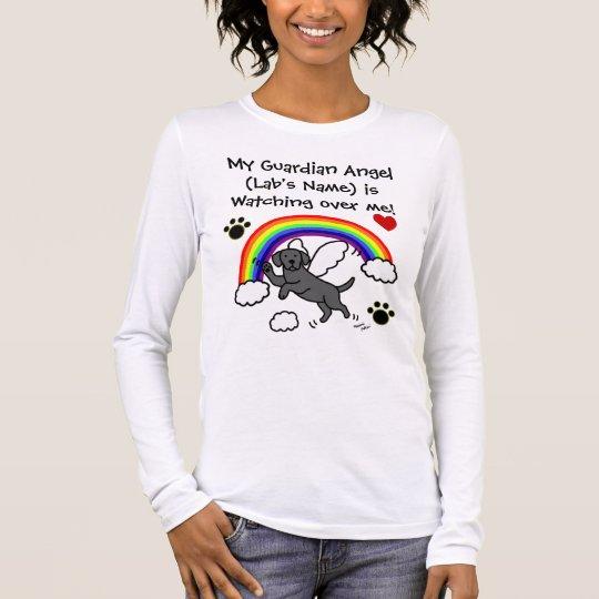 Black Labrador Guardian Angel (Rainbow Bridge) Long Sleeve T-Shirt