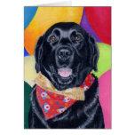 Black Labrador Happy Birthay Painting Card