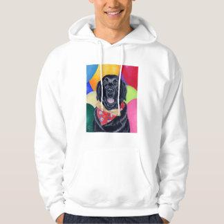 Black Labrador Happy Birthay Painting Hoodie