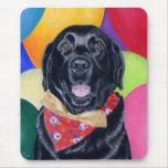 Black Labrador Happy Birthay Painting Mouse Pad