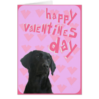 Black Labrador Happy Valentine's Day Greeting Card