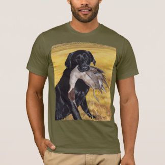 Black Labrador Hunting Dog T-Shirt