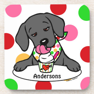 Black Labrador Ice Cream Coasters