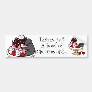 Black Labrador & Ice Cream Sundae Car Bumper Sticker