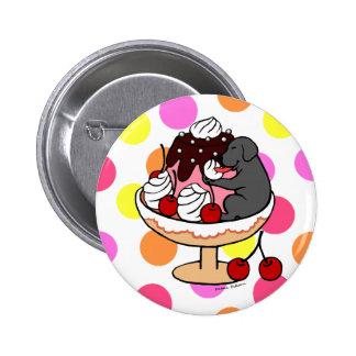 Black Labrador & Ice Cream Sundae Pins