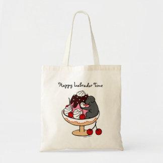 Black Labrador & Ice Cream Sundae Tote Bag