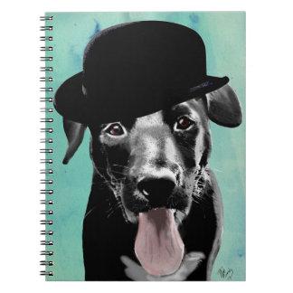 Black Labrador in Bowler Hat Notebook