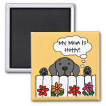Black Labrador is watching you Magnets