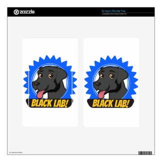 Black Labrador Kindle Fire Decals