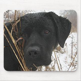 Black Labrador - Late Season Hunt Mouse Pad