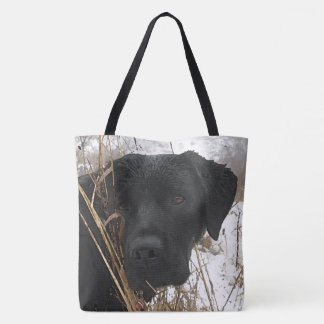 Black Labrador - Late Season Hunt Tote Bag