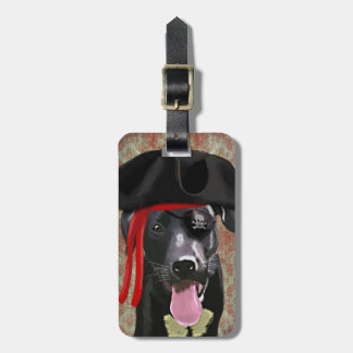 Black Labrador Pirate Dog Luggage Tag