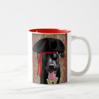 Black Labrador Pirate Dog Two-Tone Coffee Mug