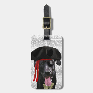 Black Labrador Pirate Luggage Tag