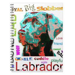 Black Labrador Pop Art Design Notebook