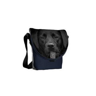 Black Labrador Portrait Bum Bag Courier Bag
