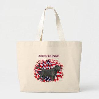 Black Labrador Pride Tote Bags