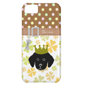 Black Labrador Puppy Cartoon Cover For iPhone 5C