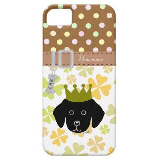 Black Labrador Puppy Cartoon iPhone SE/5/5s Case
