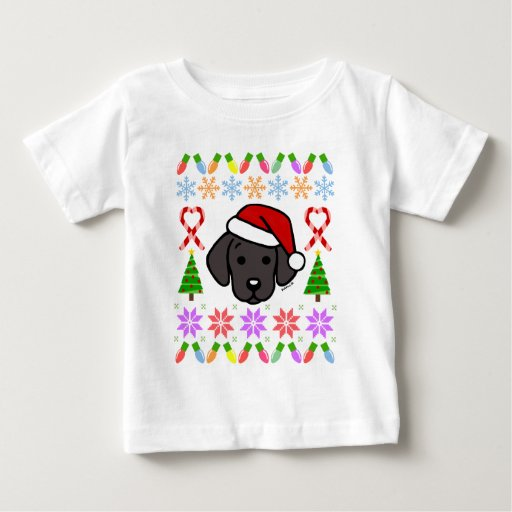 Black Labrador Puppy Christmas Pattern Baby T-Shirt