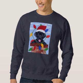 Black Labrador Puppy Christmas Sweatshirt