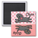 Black Labrador Puppy Clean / Dirty Magnet