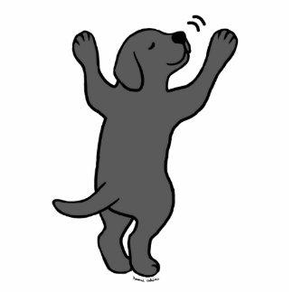 Black Labrador Puppy Hug Cartoon Photo Cut Out