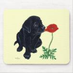 Black Labrador Puppy Mouse Pad