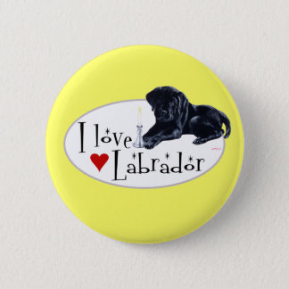 Black Labrador Puppy Pinback Button