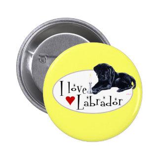 Black Labrador Puppy Pinback Button