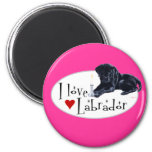 Black Labrador Puppy Refrigerator Magnet