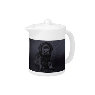 Black Labrador puppy Teapot