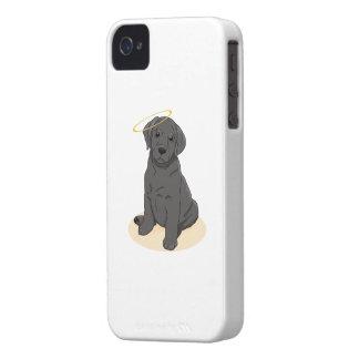 Black Labrador Retriever Angel iPhone 4 Case-Mate Case