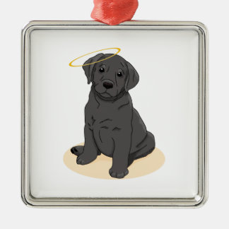 Black Labrador Retriever Angel Christmas Ornament