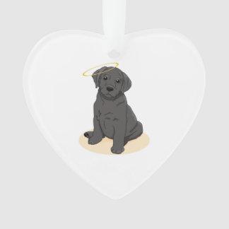 Black Labrador Retriever Angel Ornament