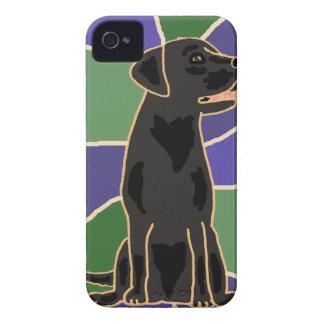 Black Labrador Retriever Art iPhone 4 Cases