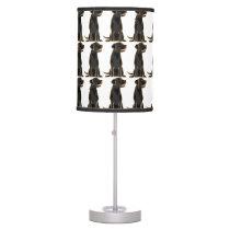 Black Labrador Retriever Art Lamp