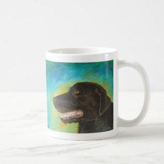 Black Labrador Retriever Art Painting Mug