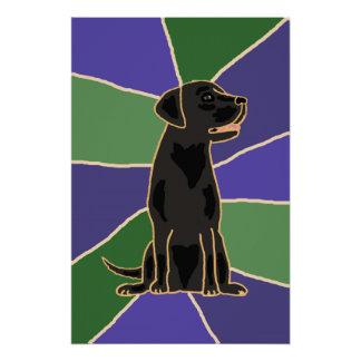 Black Labrador Retriever Art Poster