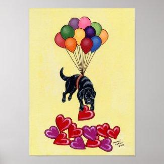 Black Labrador Retriever Art Print Huge size print