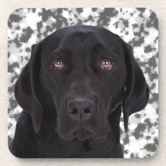 Black Labrador Retriever Beverage Coaster