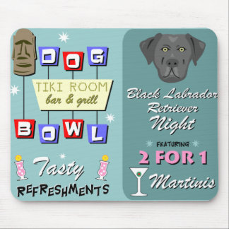 Black Labrador Retriever Bowling Mouse Pad