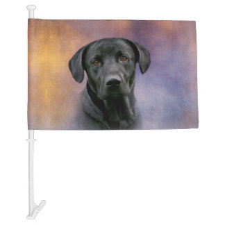 Black Labrador Retriever Car Flag